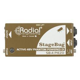 Caja directa Activa StageBug SB-4 Radial Engineering con entrada piezo eléctrica