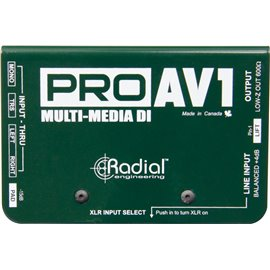 Caja directa Pasiva PRO AV1 MultiMedia Radial Engineering