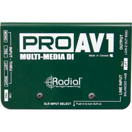 Caja directa Pasiva PRO AV1 MultiMedia Radial Engineering