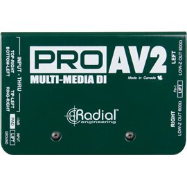 Caja directa Pasiva PRO AV2 Multimedia Radial Engineering