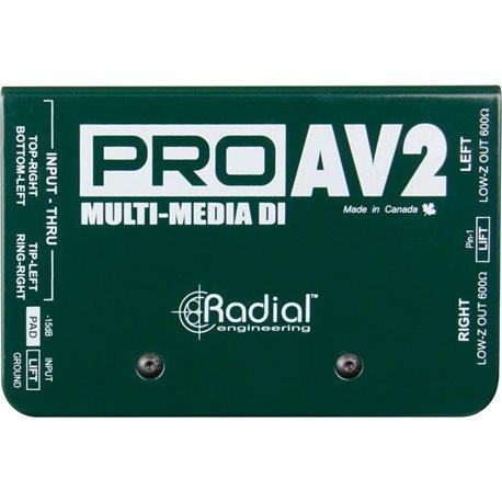 Caja directa Pasiva PRO AV2 Multimedia Radial Engineering
