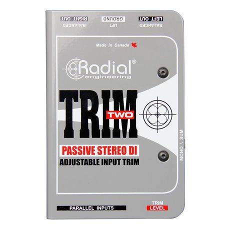 Caja directa estéreo Pasiva con Control de Nivel TRIM TWO Radial Engineering