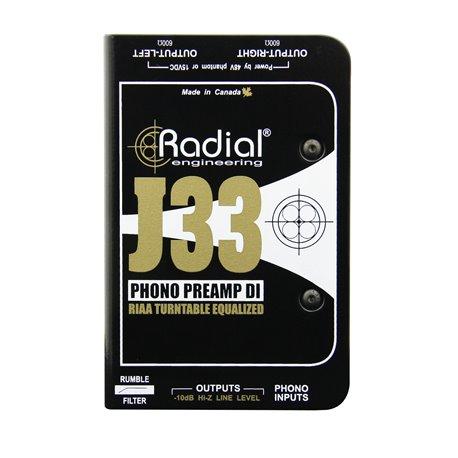 Caja directa Activa y Preamplificador para tornamesas J33 Radial Engineering