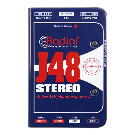 Caja directa Activa Estéreo J48 Stereo Radial Engineering