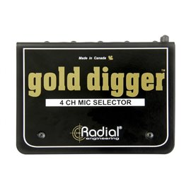 Selector y Switcher de micrófonos de 4 canales Gold Digger Radial Engineering