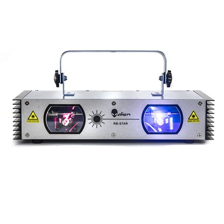 Láser de 2 salidas doble color Rojo 150 MW y Azul 500MW RB STAR Alien