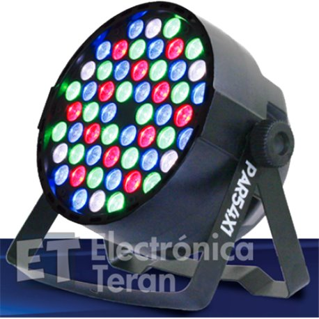 PAR 54x1 Superbright 54 LED´s RGBW de 1 watt de potencia