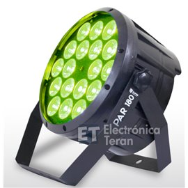 PAR 180 Superbright 18 LED´s de 10 watts ultrabrillantes RGBW (rojo,verde,azul y blanco)