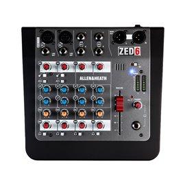 Mezcladora de audio Allen & Heat ZED-6 de 6 canales