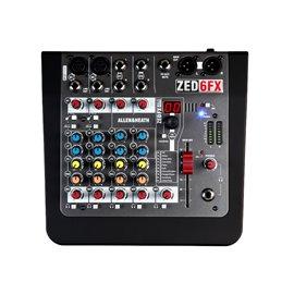 Mezcladora de audio Allen & Heat ZED-6FX de 6 canales con efectos