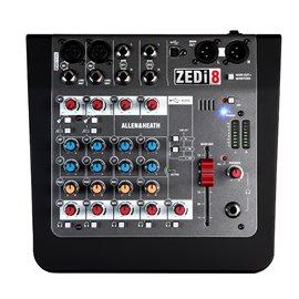 Mezcladora de audio Allen & Heat ZEDi-8 con conexión USB