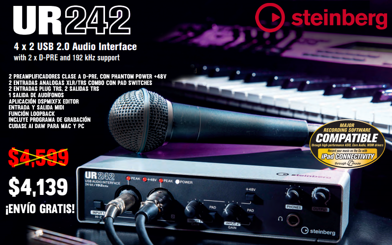 Interface Steinberg UR242 promo